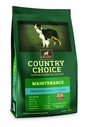 Country Choice Maintenance White Fish & Rice - 12kg