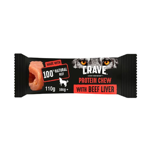 Crave Protein Chew For Medium & Large Dogs With Beef & Liver Dog Chew 110g