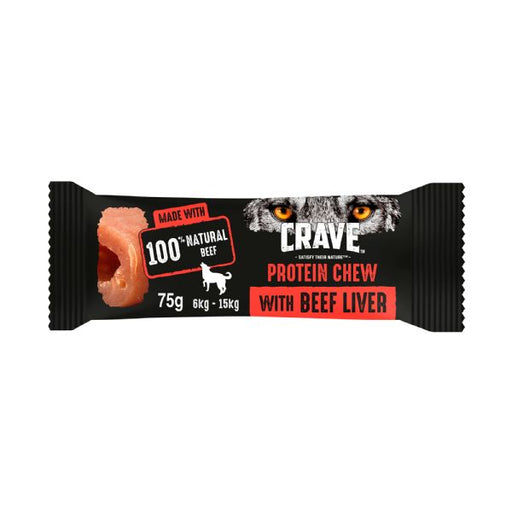 Crave Protein Chew For Small & Medium Dogs With Beef & Liver Dog Chew 75g
