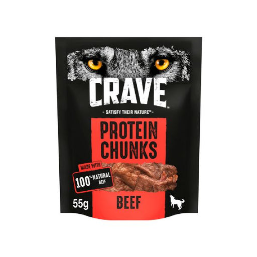 Crave Protein Chunks With Beef Dog Treats 55g