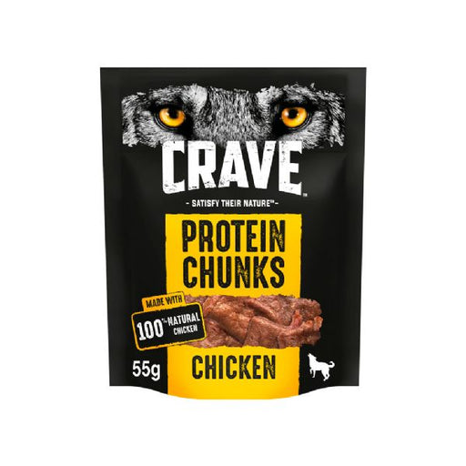 Crave Protein Chunks With Chicken Dog Treats 55g