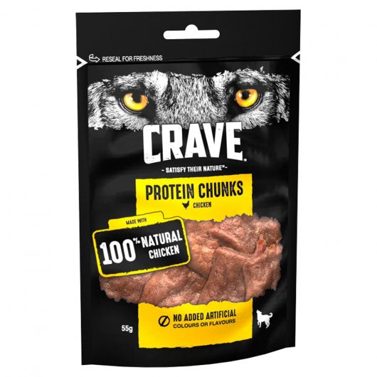Crave Protein Chunks With Chicken Dog Treats - 55g