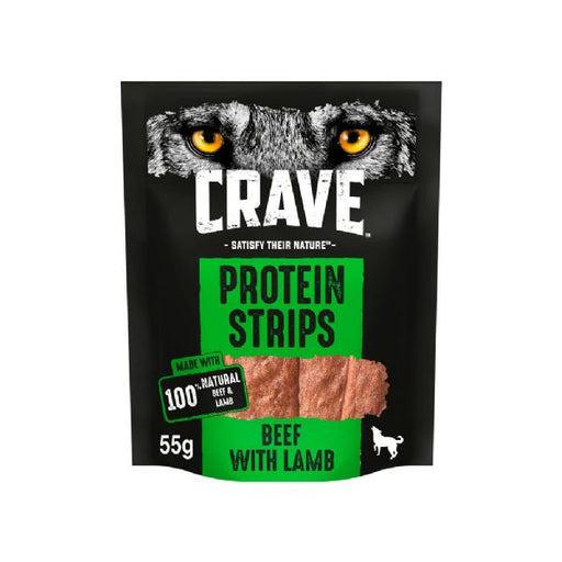Crave Protein Strips With Beef & Lamb Dog Treats 55g