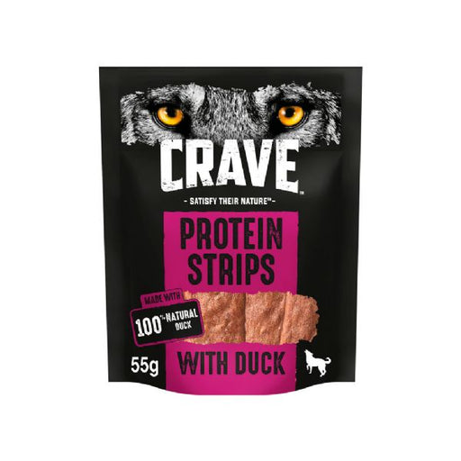 Crave Protein Strips With Duck Dog Treats 55g