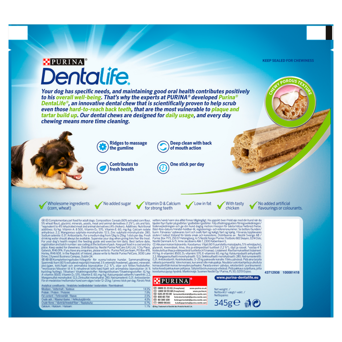 Dentalife Dental Chews For Medium Dogs 15 Sticks