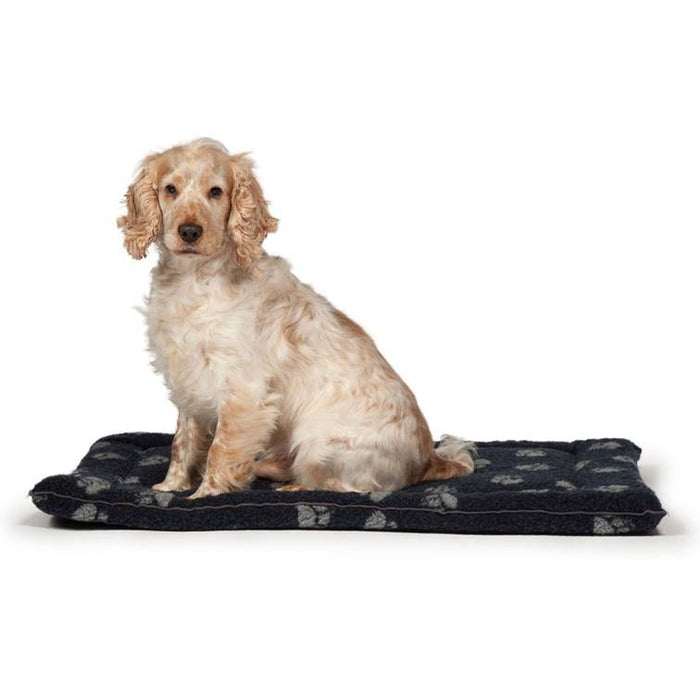 Danish Design Sherpa Fleece Navy Cage Mattress