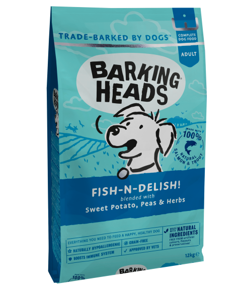 Barking Heads Fish N Delish Grain Free Adult Dry Dog Food 12kg