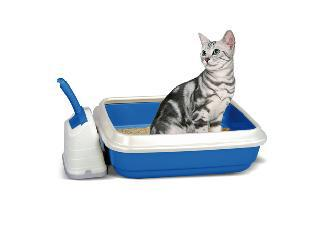 Duo Cat Litter Tray With Scoop & Holder