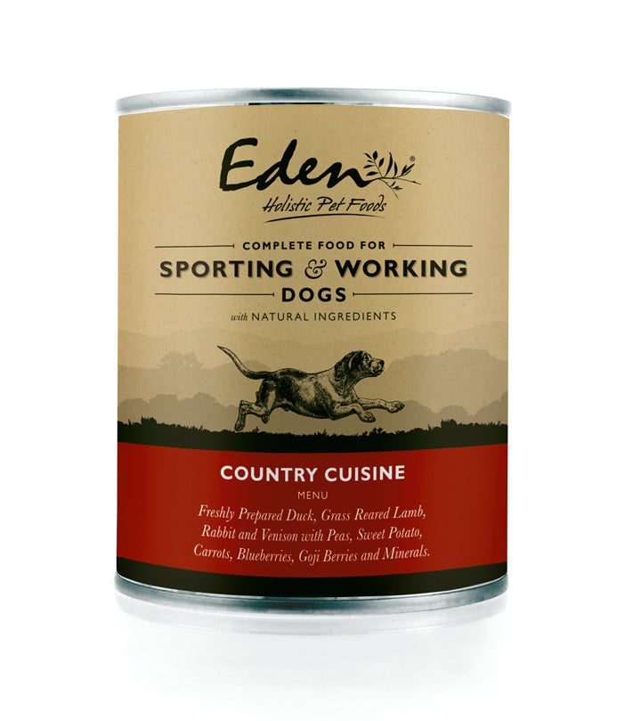 Eden Working and Sporting Country Cuisine Wet Dog Food - 6 x 400g