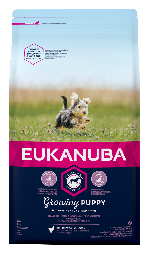 Eukanuba Growing Puppy Toy Breed Chicken Dry Dog Food - 2kg