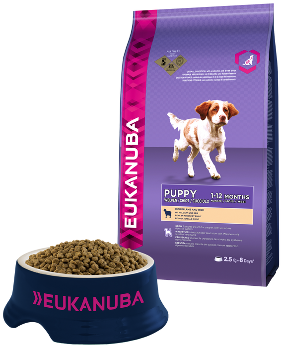 Eukanuba Medium Breed Lamb & Rice Dry Puppy Food - 2.5kg