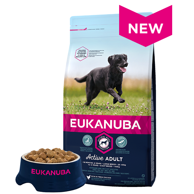 Eukanuba Large Breed Active Adult Chicken Dry Dog Food- 12kg