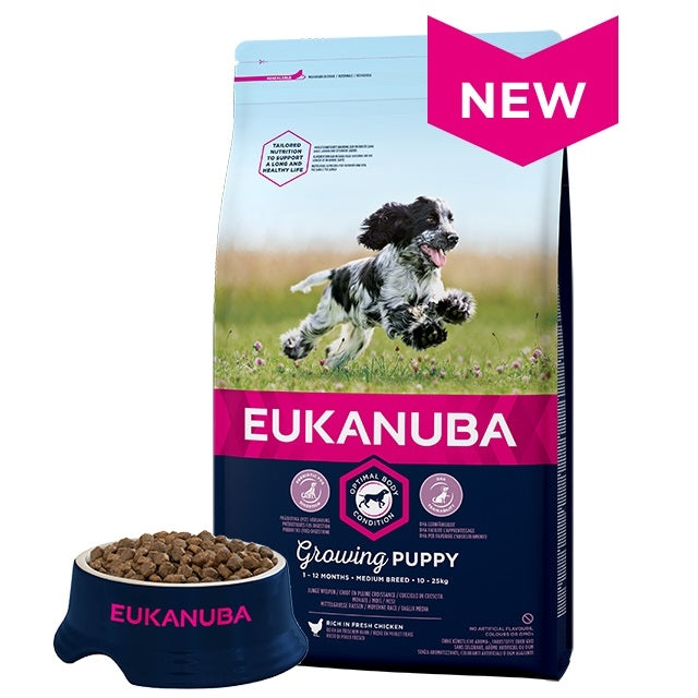 Eukanuba Medium Breed Growing Puppy Dry Dog Food Chicken 12kg
