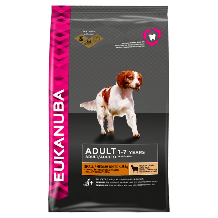 Eukanuba Adult Small & Medium Breed Lamb & Rice Dry Dog Food 2.5kg