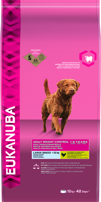 Eukanuba Weight Control Adult Large Breed Dry Dog Food 12kg