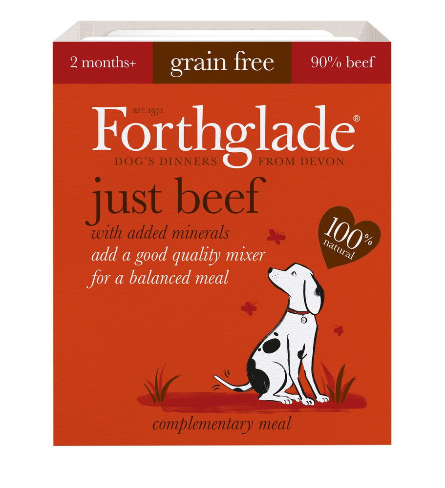 Forthglade Just Beef Grain Free Dog Food 18Pack - 395G