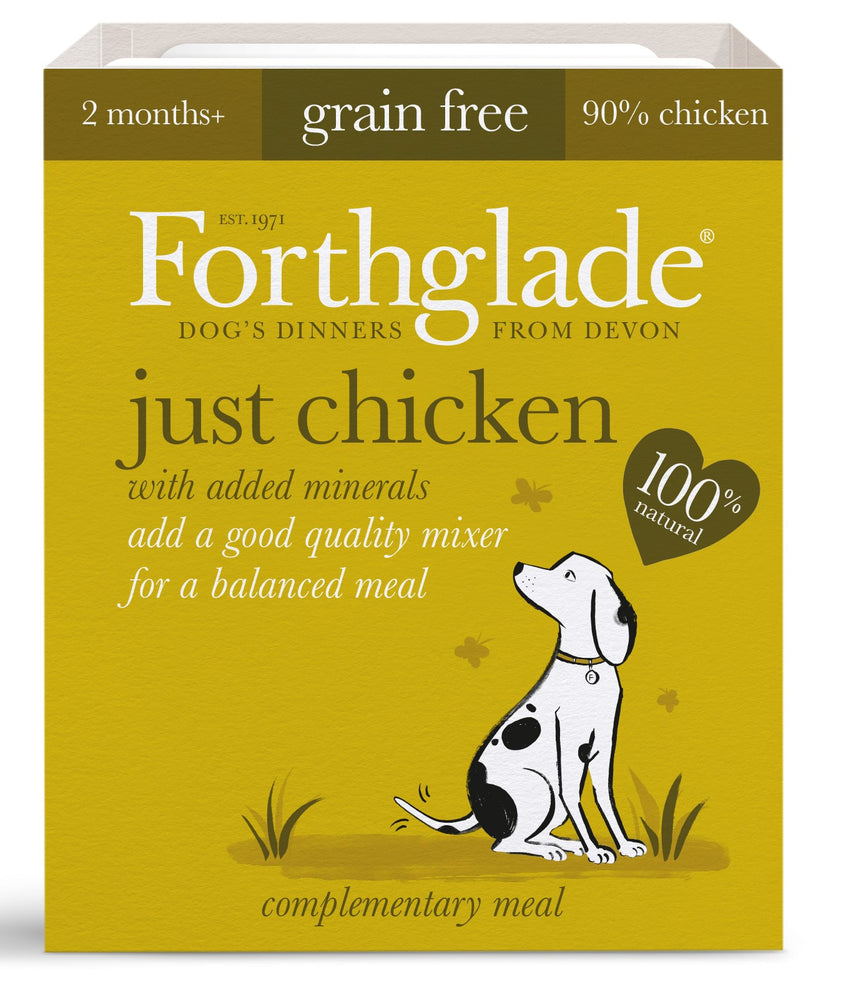 Forthglade Just Chicken Grain Free Dog Food 18Pack - 395G