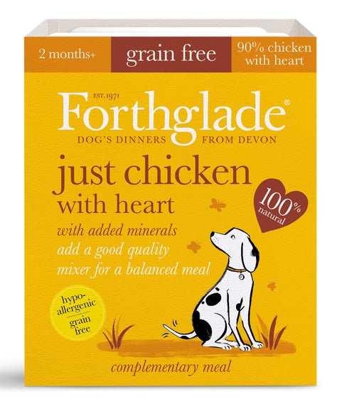 Forthglade Just Chicken with Heart Grain Free Dog Food 18Pack - 395G