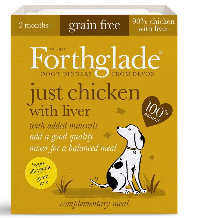 Forthglade Just Chicken with Liver Grain Free Dog Food 18Pack - 395G