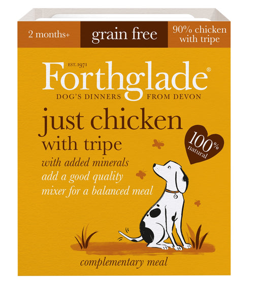 Forthglade Just Chicken with Tripe Grain Free Dog Food 395g