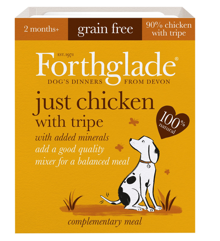 Forthglade Just Chicken with Tripe Grain Free Dog Food - 18 x 395g