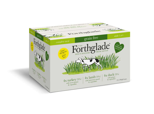 Forthglade Complete Adult Multicase Grain Free Dog Food Turkey/Lamb/Duck - 12 x 395G