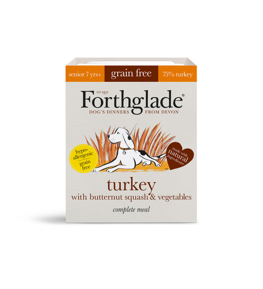Forthglade Complete Turkey with Butternut Squash & Veg/ Grain Free - 18 x 395g