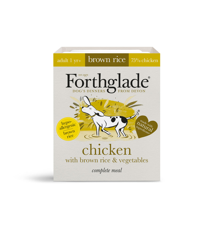 Forthglade Complete Meal Adult Chicken with Brown Rice & Vegetables Dog Food 395g