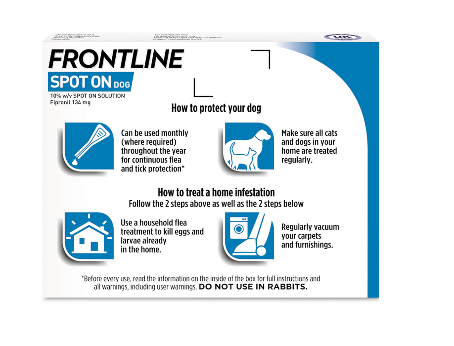 Frontline Spot On Flea & Tick Treatment Medium Dog (10-20kg) - 3 pack