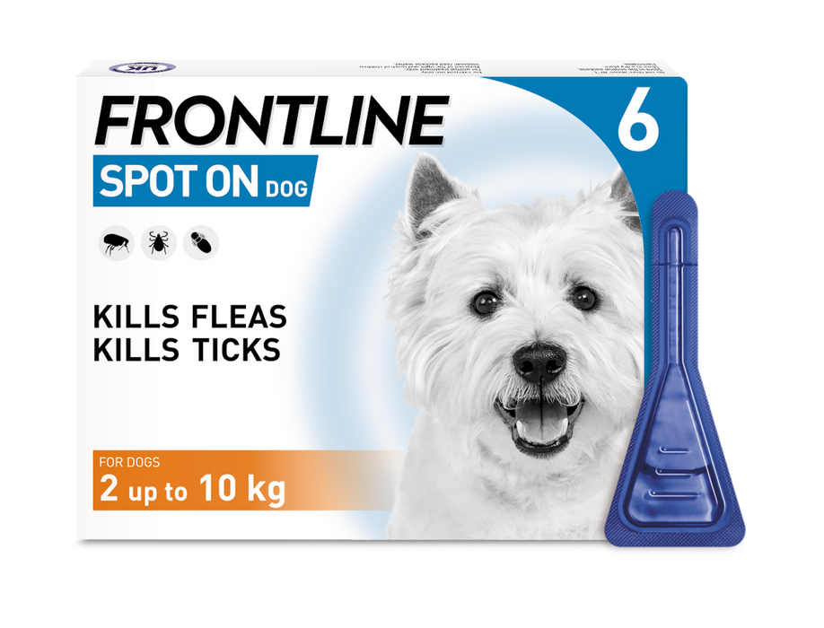 Frontline Spot On Flea & Tick Treatment Small Dog (2-10kg) - 6 pack