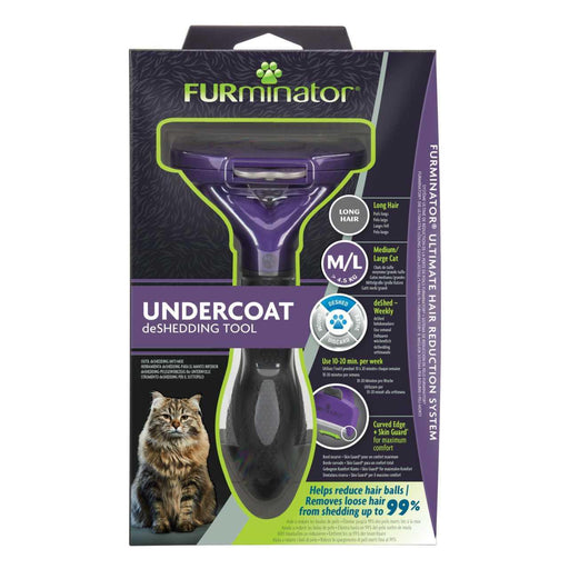 Furminator Deshedding Tool for Large Cats With Long Hair