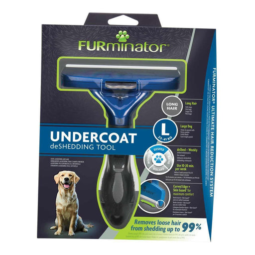 Furminator Deshedding Tool for Large Dog With Long Hair