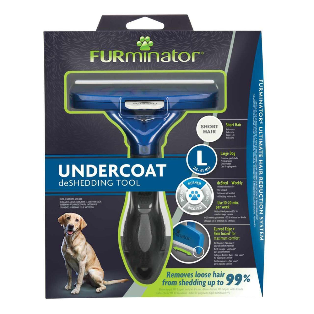 Furminator Deshedding Tool for Large Dogs With Short Hair