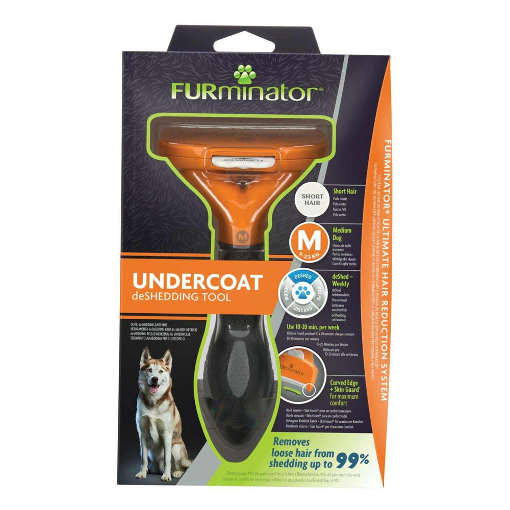 Furminator Deshedding Tool for Medium Dog with Short Hair