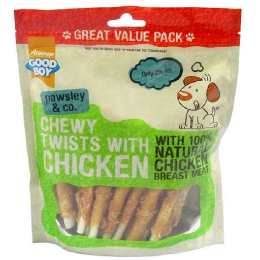Good Boy Chewy Twists with Chicken Dog Treats 320g
