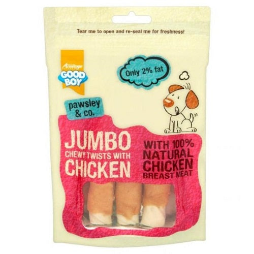 Good Boy Jumbo Chewy Twists Dog Treats - 100g
