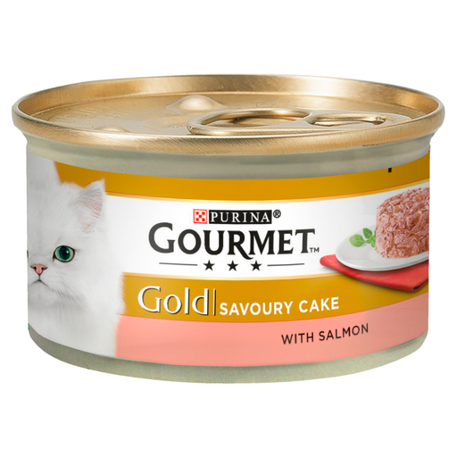 Gourmet Gold Savoury Cake with Salmon Cat Food 12 x 85g