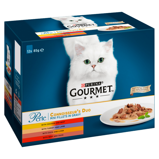 Gourmet Perle Connoisseurs Duo Cat Food Pouches 12 x 85g