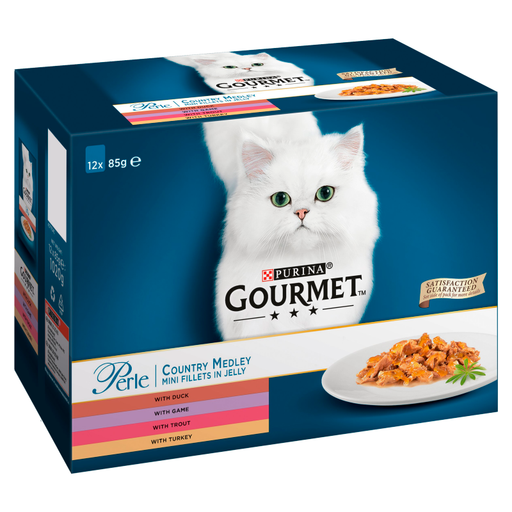 Gourmet Perle Pouch Country Medley 12Pack Cat Food 85g