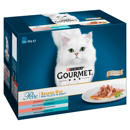 Gourmet Perle Seaside Duo Cat Food Pouches 12 x 85g