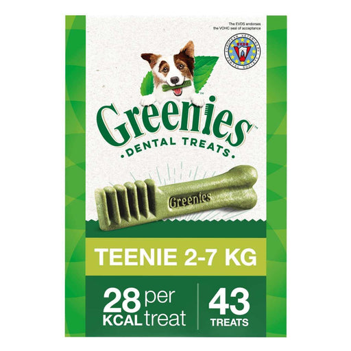 Greenies Teenie Dental Treat For Mini Dogs (2-7kg) - 340g