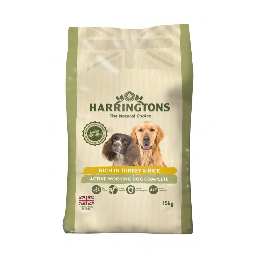 Harringtons Active Worker Turkey & Rice Dry Dog Food - 15kg