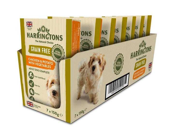 Harringtons Chicken & Potato with Vegetables Wet Dog Food Trays - 7 x 150g