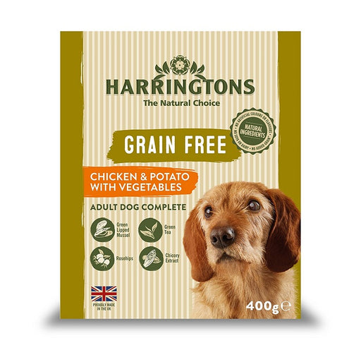 Harringtons Chicken & Potato with Vegetables Wet Dog Food Trays - 8 x 400g