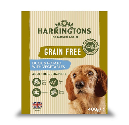 Harringtons Duck & Potato with Vegetables Wet Dog Food Trays - 8 x 400g