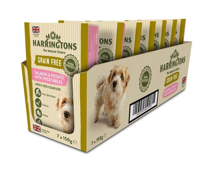 Harringtons Salmon & Potato with Vegetables Wet Dog Food Trays - 7 x 150g