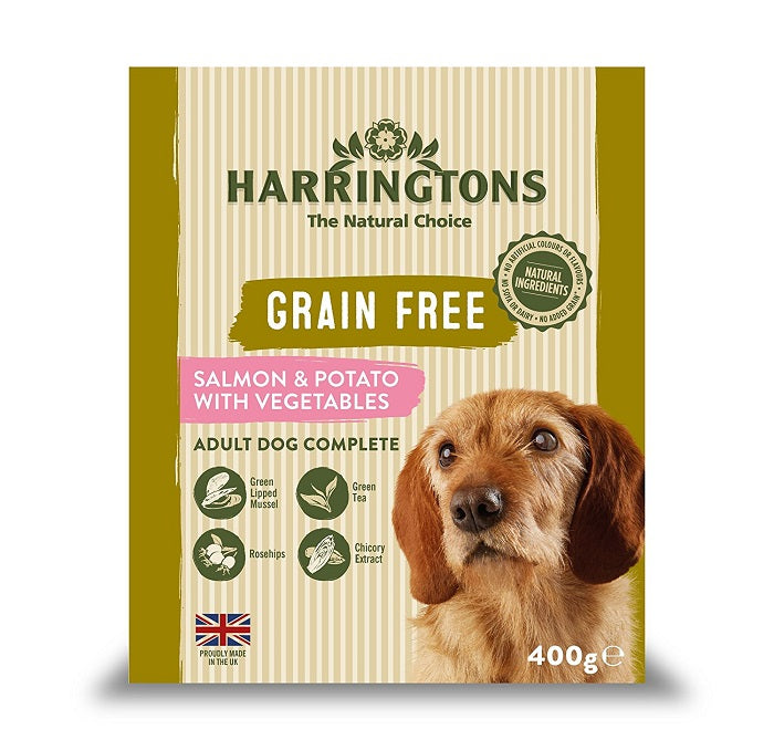 Harringtons Salmon & Potato with Vegetables Wet Dog Food Trays 400g