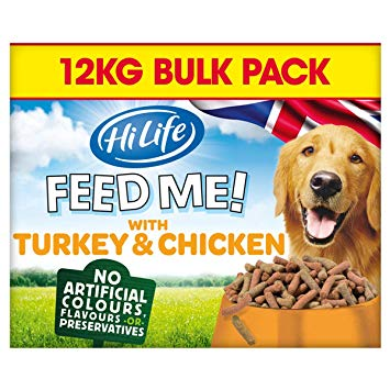 HiLife Feed Me! Turkey & Chicken Semi Moist Dog Food - 12kg