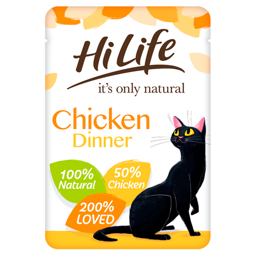 HiLife It's Only Natural Chicken Dinner in Jelly Adult Cat Food Pouches 18 x 70g