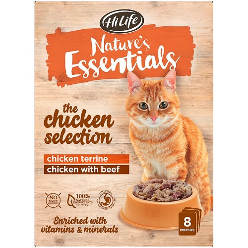 HiLife Nature's Essentials Adult Poultry Selection 8 Pack/ 8